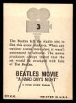1964 Topps Beatles Movie #3   Beatles Film  Scene Outdoors Back Thumbnail