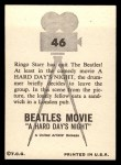 1964 Topps Beatles Movie #46   Ringo Has Quit The Beatles Back Thumbnail