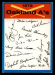 1973 Topps Blue Team Checklists #18   Oakland Athletics Front Thumbnail
