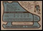 1979 Topps #78  Ron Greschner  Back Thumbnail