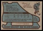 1979 Topps #88  Grant Mulvey  Back Thumbnail