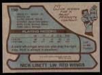 1979 Topps #198  Nick Libett  Back Thumbnail