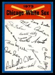 1973 Topps Blue Team Checklists #6   Chicago White Sox Front Thumbnail