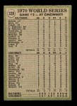 1971 Topps #328   -  Don Buford / Johnny Bench 1970 World Series - Game #2 - Buford Goes 2-for-4 Back Thumbnail