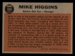 1962 Topps #559  Mike Higgins  Back Thumbnail
