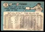 1965 Topps #548  Dick Stigman  Back Thumbnail