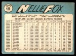 1965 Topps #485  Nellie Fox  Back Thumbnail
