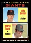 1971 Topps #276   -  George Foster / Mike Davison Giants Rookies Front Thumbnail