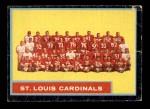 1962 Topps #150   Cardinals Team Front Thumbnail