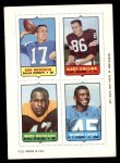 1969 Topps 4-in-1 Football Stamps  Don Meredith / Gary Collins / Marv Woodson / Homer Jones  Front Thumbnail