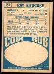 1968 Topps #157  Ray Nitschke  Back Thumbnail