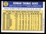 1970 Topps #559  Tommy Davis  Back Thumbnail