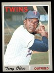 1970 Topps #510  Tony Oliva  Front Thumbnail