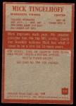 1965 Philadelphia #111  Mick Tingelhoff  Back Thumbnail