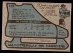 1979 Topps #123  Mario Tremblay  Back Thumbnail