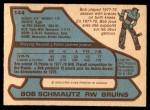 1979 O-Pee-Chee #144  Bobby Schmautz  Back Thumbnail