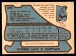 1979 O-Pee-Chee #325  Gordie Lane  Back Thumbnail