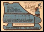 1979 O-Pee-Chee #168  Don Murdoch  Back Thumbnail