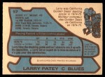 1979 O-Pee-Chee #57  Larry Patey  Back Thumbnail