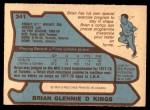 1979 O-Pee-Chee #341  Brian Glennie  Back Thumbnail