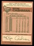 1978 O-Pee-Chee #124  Wayne Cashman  Back Thumbnail