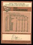 1978 O-Pee-Chee #72  Ron Stackhouse  Back Thumbnail