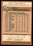 1978 O-Pee-Chee #23  Dick Redmond  Back Thumbnail