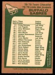 1978 O-Pee-Chee #194   Sabres Team Back Thumbnail