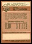 1978 O-Pee-Chee #289  Dave Hutchinson  Back Thumbnail