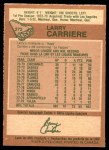 1978 O-Pee-Chee #272  Larry Carriere  Back Thumbnail