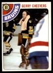 1978 O-Pee-Chee #140  Gerry Cheevers  Front Thumbnail