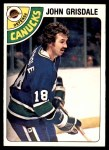1978 O-Pee-Chee #318  John Grisdale  Front Thumbnail