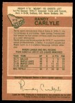 1978 O-Pee-Chee #312  Randy Carlyle  Back Thumbnail