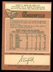 1978 O-Pee-Chee #178  Jim Schoenfeld  Back Thumbnail