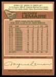 1978 O-Pee-Chee #180  Jacques Lemaire  Back Thumbnail