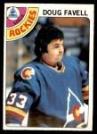 1978 O-Pee-Chee #54  Doug Favell  Front Thumbnail
