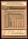 1978 O-Pee-Chee #101  J.P. Bordeleau  Back Thumbnail