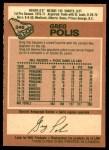 1978 O-Pee-Chee #246  Greg Polis  Back Thumbnail