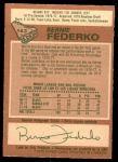 1978 O-Pee-Chee #143  Bernie Federko  Back Thumbnail