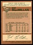 1978 O-Pee-Chee #82  Bob MacMillan  Back Thumbnail