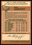 1978 O-Pee-Chee #315  Ron Andruff  Back Thumbnail
