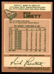 1978 O-Pee-Chee #251  Nick Libett  Back Thumbnail