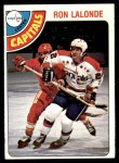 1978 O-Pee-Chee #371  Ron Lalonde  Front Thumbnail