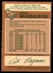 1978 O-Pee-Chee #34  Keith Magnuson  Back Thumbnail