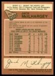 1978 O-Pee-Chee #294  Jack McIlhargey  Back Thumbnail