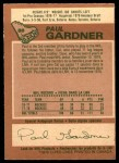 1978 O-Pee-Chee #88  Paul Gardner  Back Thumbnail
