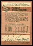 1978 O-Pee-Chee #25  Anders Hedberg  Back Thumbnail