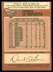1978 O-Pee-Chee #104  Dennis O'Brien  Back Thumbnail