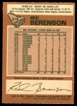 1978 O-Pee-Chee #218  Red Berenson  Back Thumbnail