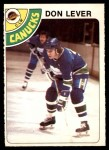 1978 O-Pee-Chee #86  Don Lever  Front Thumbnail